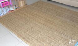 Ikea Rug Tarnby Hand Woven Natural colour approx 180cm