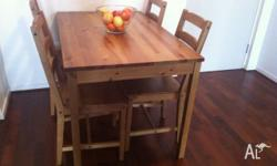 Ikea - Table and four Chairs in really good condition.