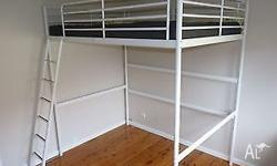 This all metal frame Double Loft Bed comes with all the