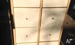 for sale: IKEA white drawers. Avg condition. Some