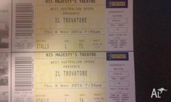 Selling 2 tickets to Il Trovatore - His Majesty's