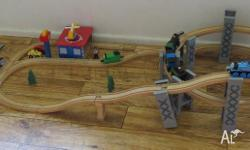 TIMBER TRAIN SET.............