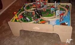 Imaginarium Train Set with Table - lots of extra track