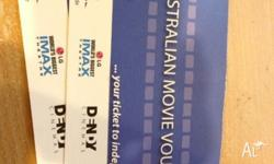 Hi I'm selling these movie tickets. Quantity: 2 for