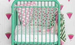 Gorgeous Incy Interiors Declan Cot in Spearmint (teal).