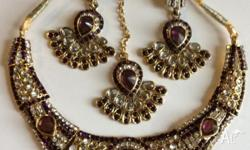 very nice indian kundan jewerly set. Having tikka,