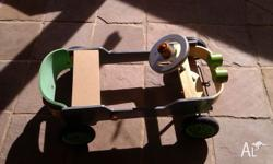 Home made toy car for 2 year old toddler and above.