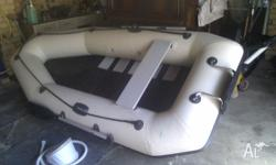 Heavy duty Inflatable with outboard bkt, slatted floor,
