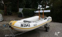 3.2m aluminium hull inflatable boat with dismantable