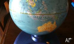 Leap Frog interactive globe. Slight fading on globe. In