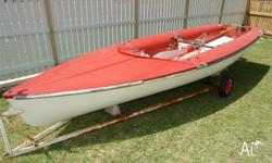This sturdy fibreglass dinghy needs only a small amount