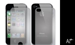 Iphone 3 / 4 and 4s clear screen front and back