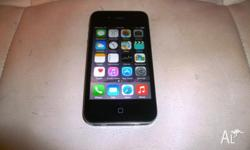IPHONE 4 BLACK 16GB UNLOCKED*ACCESSORIES GOOD