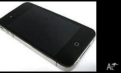 iPhone 4 black 8GB unlocked- any SIM / Carrier o.k.