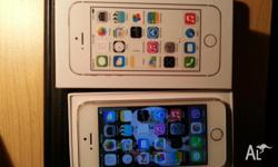 Up for sale is a month old Mint Unlocked Gold Iphone 5S