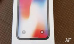 Iphone x silver color Sealed brand new Unlocked to all