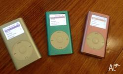 Up for sale are USED Ipod Mini's 4gb's $60 Each -