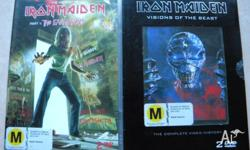This listing is for 2 Iron Maiden DVDs. They are $5