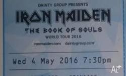I am offerig a spare ticket to Iron Maiden Concert