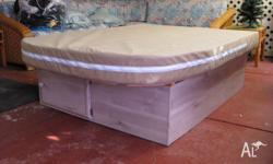 Island double bed base & mattress for a caravan in good