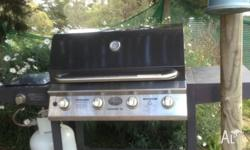 Jackaroo Grange SX BBQ with gas bottle and cover. All