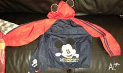 Jacket, Mickey Mouse, waterproof jacket with hood,