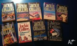 9x Jackie Collins books good used condition ... less