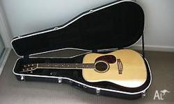 JAM acoustic guitar with hard case. Nice tone. In good