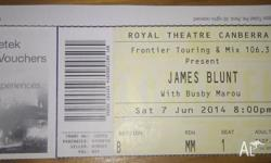 I have 1 x ticket for James with Busby Marou concert