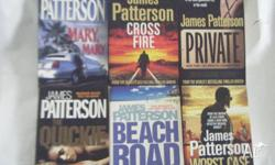 7 james Patterson Soft Cover Books $5 each -Mary Mary