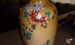 17th Century hand painted vase. Beautiful flowers and