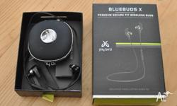 Up for sale is a set of Jaybird Bluebuds X Bluetooth