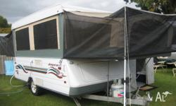 jayco swan wind up camper 13'8x7' extends to 21' 1004