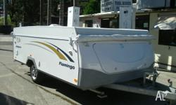 2009 JAYCO FLAMINGO WIND UP CAMPER TARE 1002kg AWNING