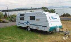 One Owner, Island double bed,3 way fridge, Air