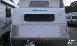 Lightweight island bed model Jayco Freedom pop top with