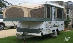 2003 Jayco Hawk, new annex with front and rear door and