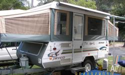 For sale, as new Jayco Hawk Outback camper trailer.