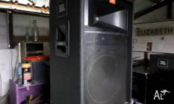 JBL PA SPEAKERS,PAIR,PASSIVE,SOME WEAR AND TEAR,STILL