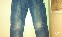 These used denim G Star jeans are in excellent