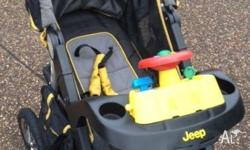Jeep Pram for Sale. In good condition. Comes with: - 4