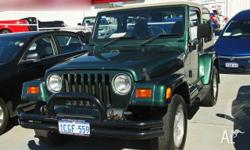 JEEP, WRANGLER, TJ, 2001, 4WD, Green, 2D SOFTTOP,