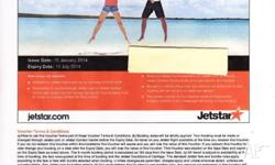 For sale is Jetstar Flight Voucher valued at $100