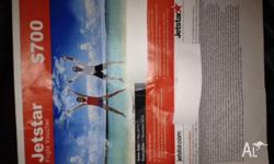 Jetstar flight voucher. Must be used in Australia and