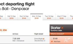 I have a ticket from perth to Bali on 15/9 at 3:40