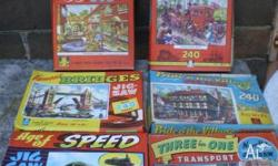 English children's jig saw puzzles from the 1950's and