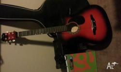 Up for sale is a Jixing acoustic guitar and amp. Guitar