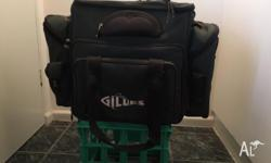 New JM GIllies tackle bag. 4 x 3500 draws bottle/can