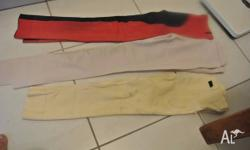 We have four sets of riding pants form size 7 to 12