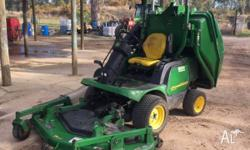"John Deere 1445 mower with 72"" side discharge deck and"